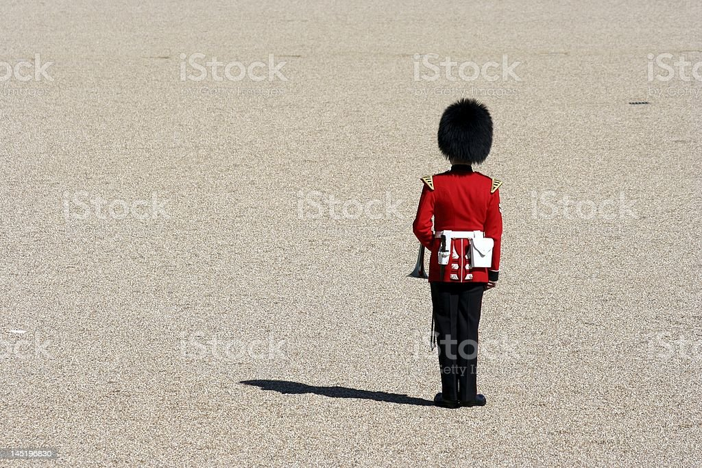Lone Soldier stock photo