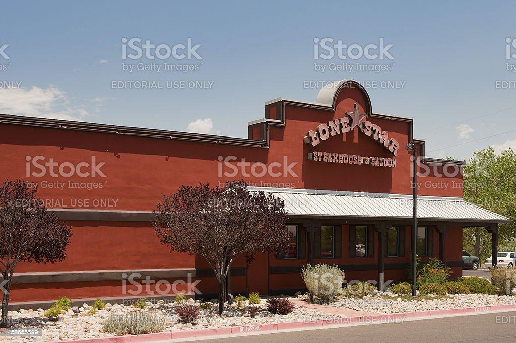Lone Star Steakhouse & Saloon stock photo