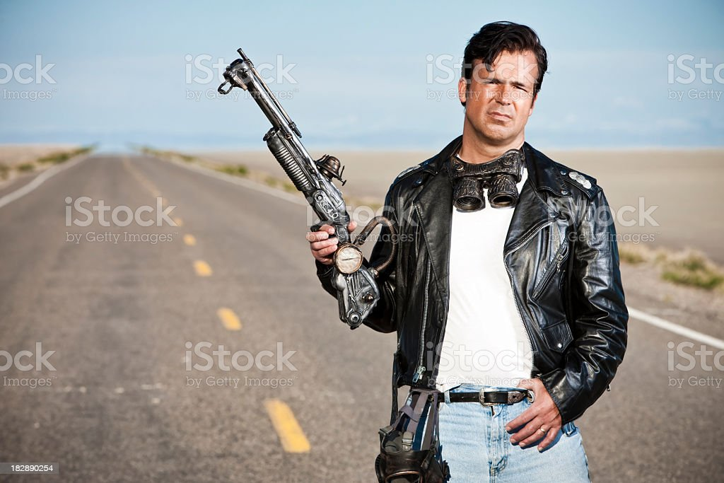 Lone Survivor of Apocalypse royalty-free stock photo