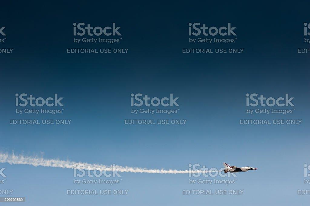 Lone Thunderbird stock photo