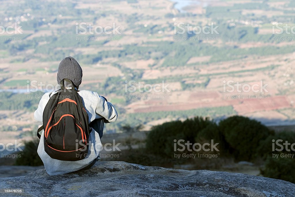 Lone Traveller royalty-free stock photo