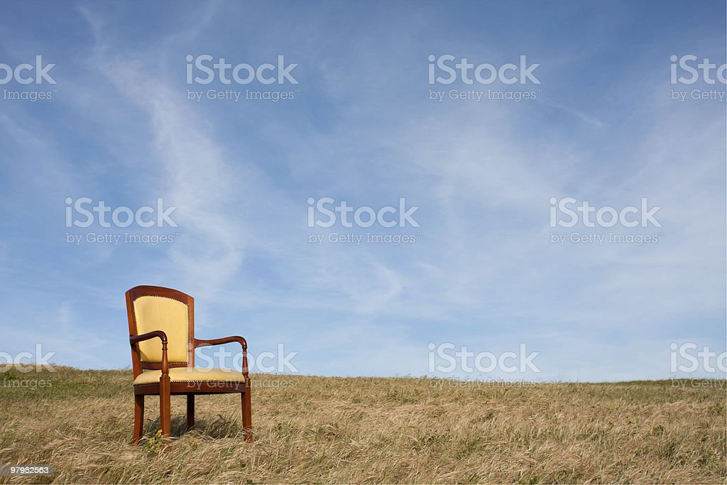 Loneliness chair stock photo
