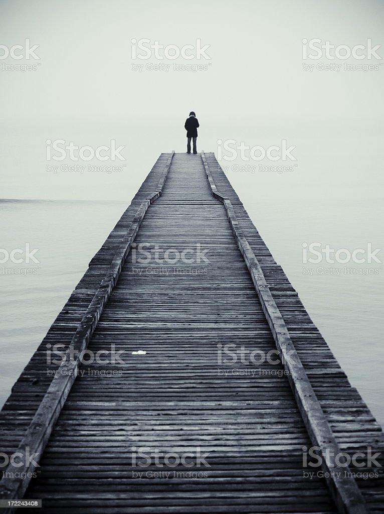 Loneliness metaphor stock photo