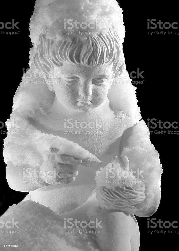 Lonely Angel stock photo