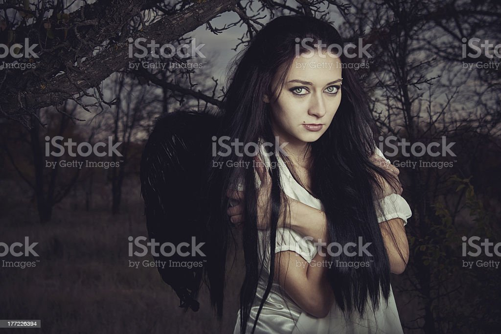 Lonely angel royalty-free stock photo