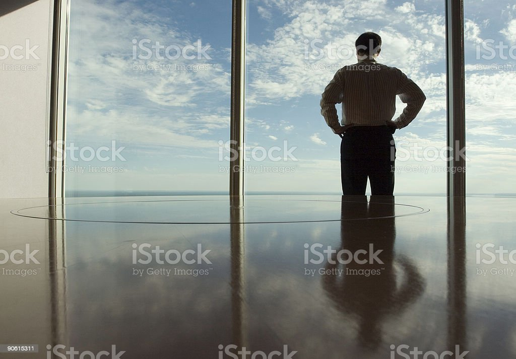 Lonely at the Top stock photo