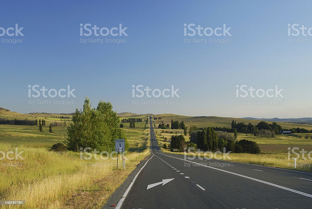 Lonely Australian Highway royalty-free stock photo