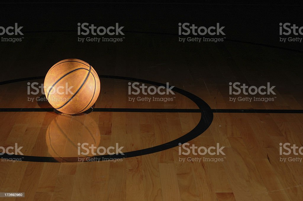 Lonely Basketball stock photo