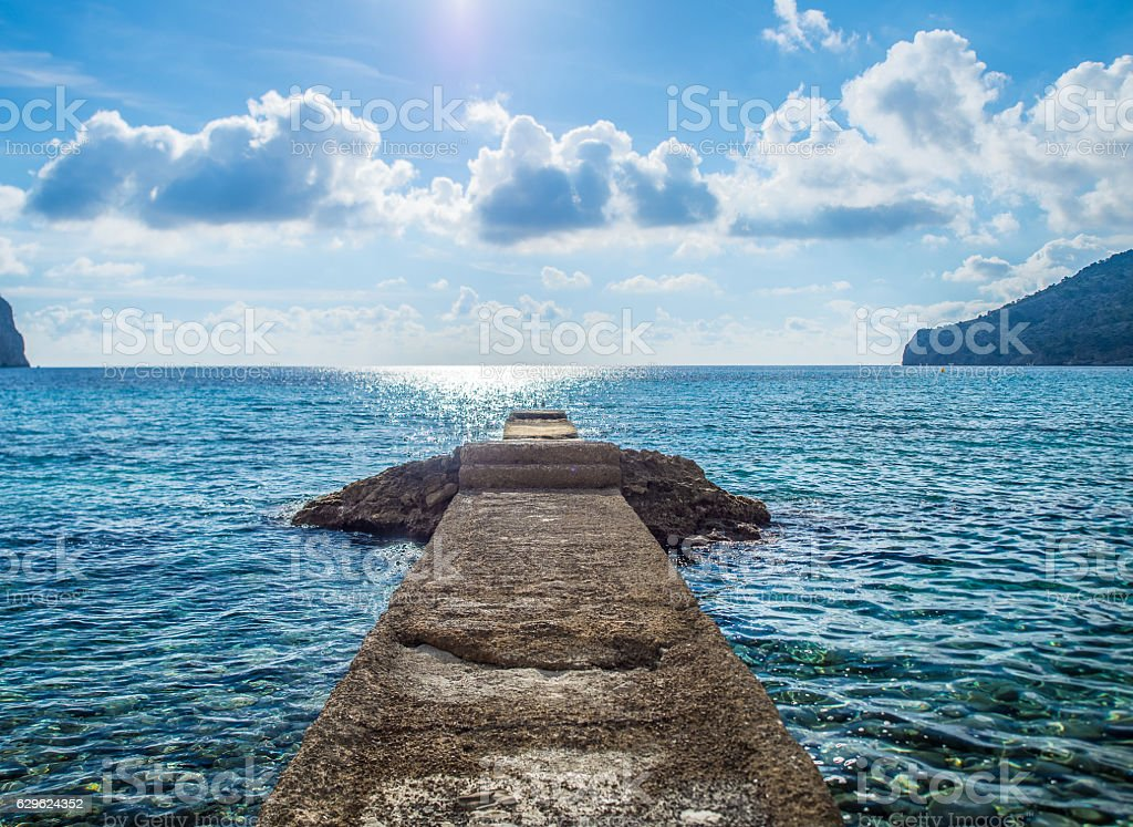 Lonely beach in Mallorca - Balearic Islands stock photo