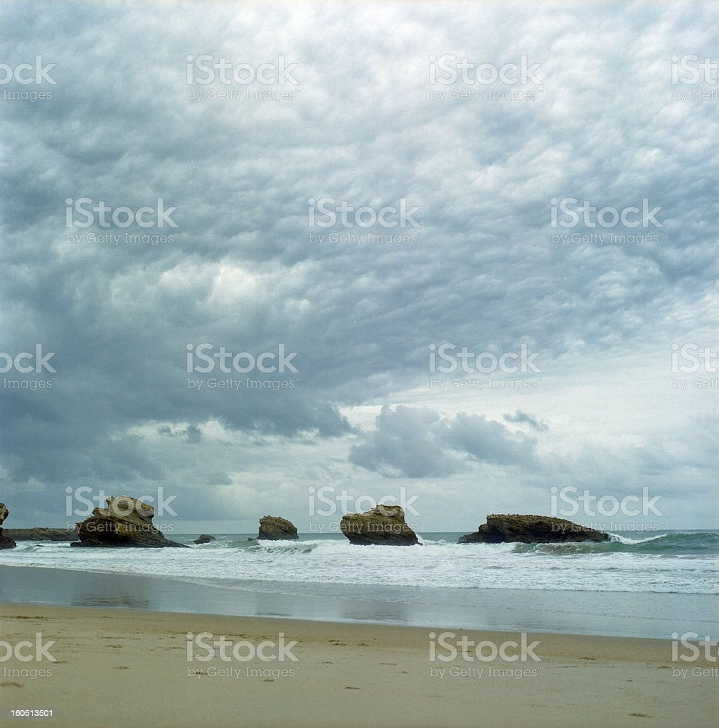 lonely beach royalty-free stock photo