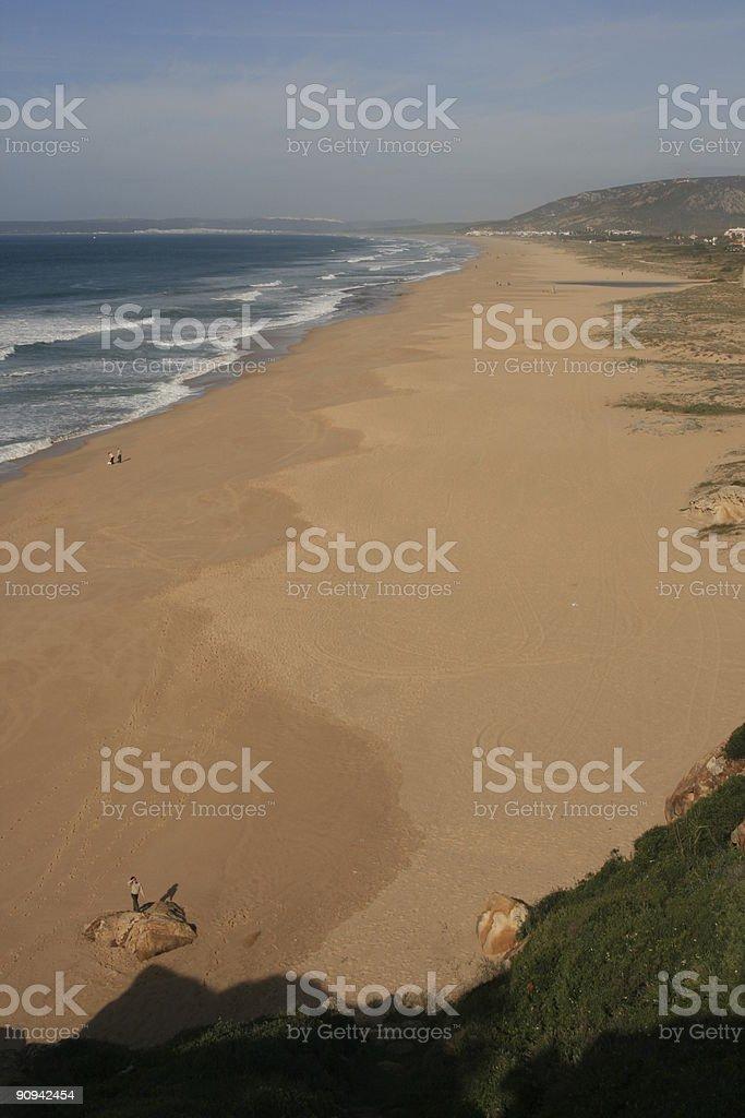 Lonely Beach. Playa Solitaria. stock photo
