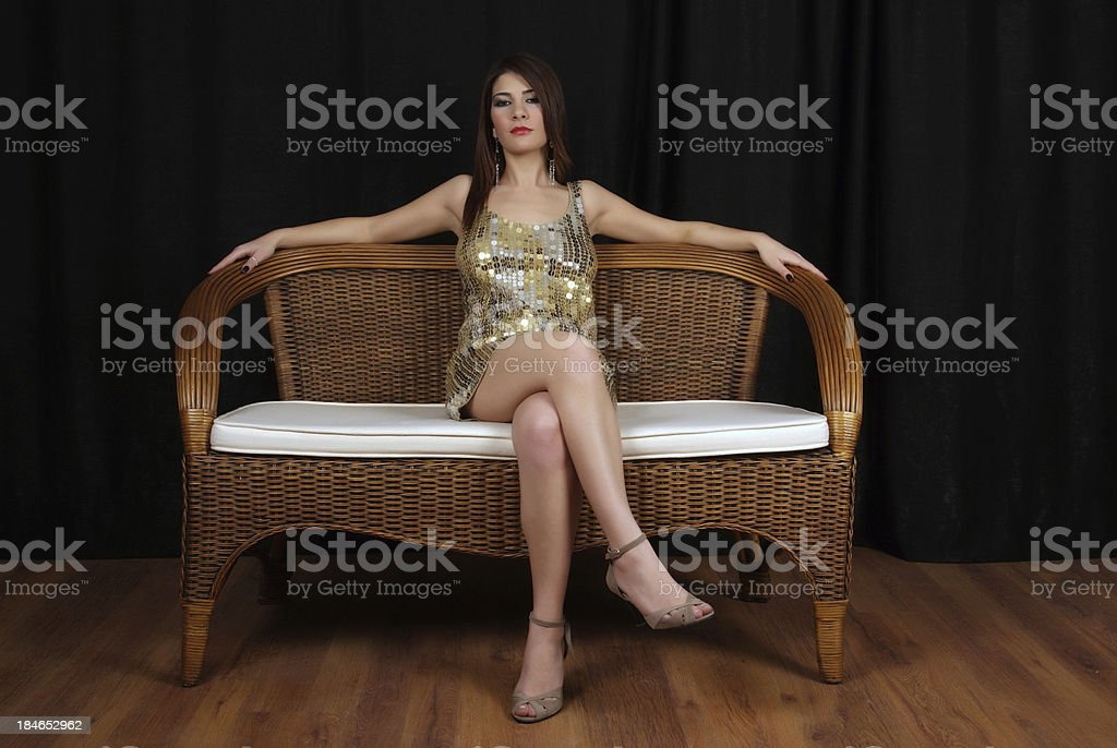 lonely beautiful woman royalty-free stock photo