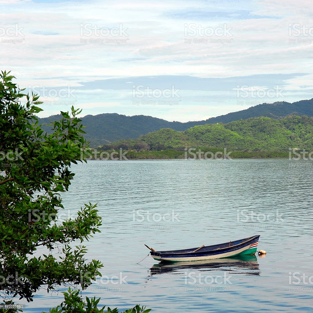 Lonely Boat (side view) stock photo