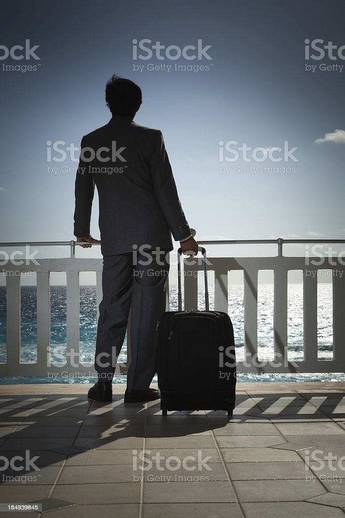 Lonely Business Traveler Traveling to Beah Resort royalty-free stock photo