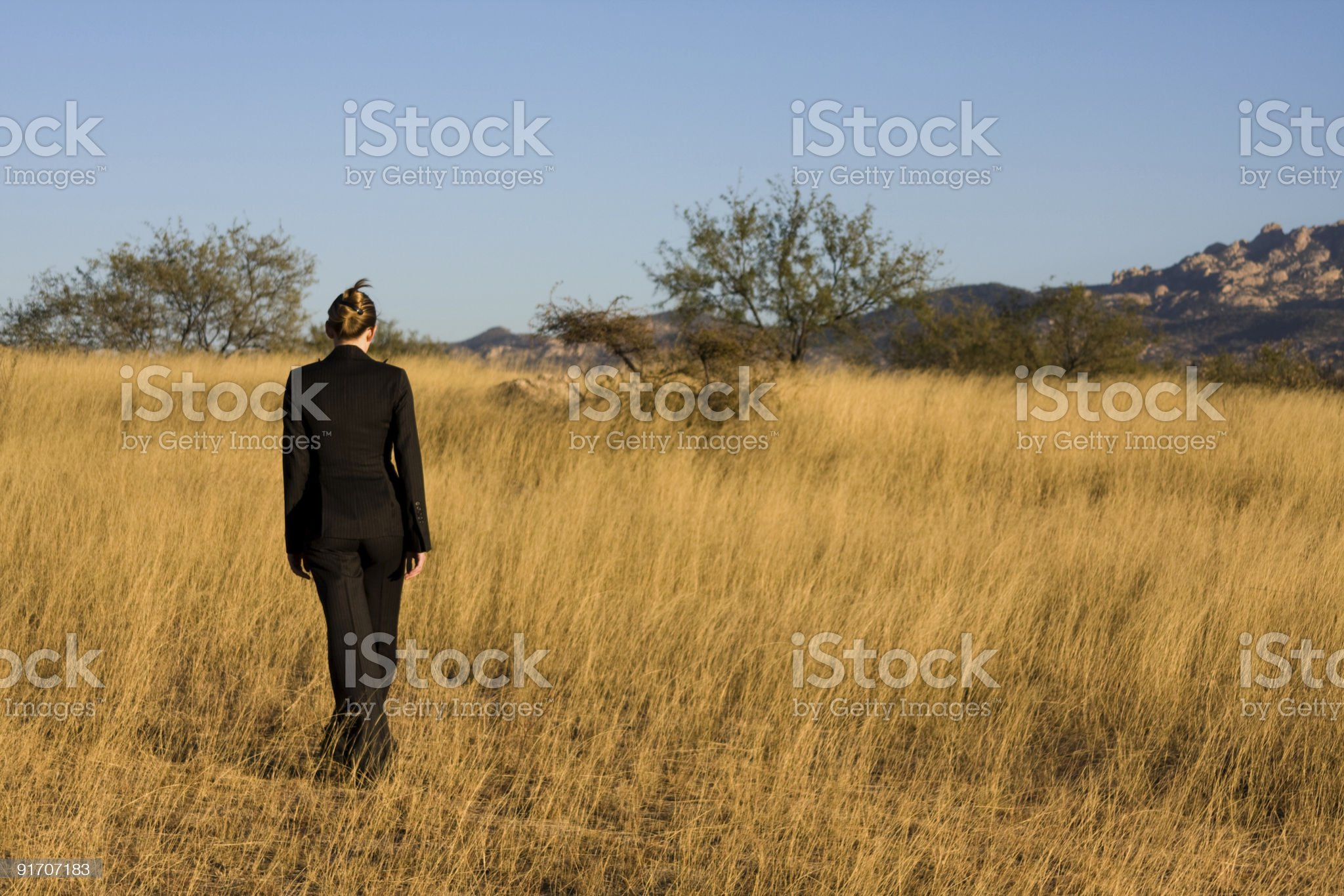 Lonely business woman royalty-free stock photo