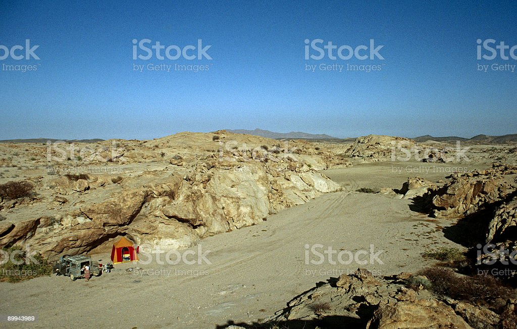 Lonely campsite royalty-free stock photo
