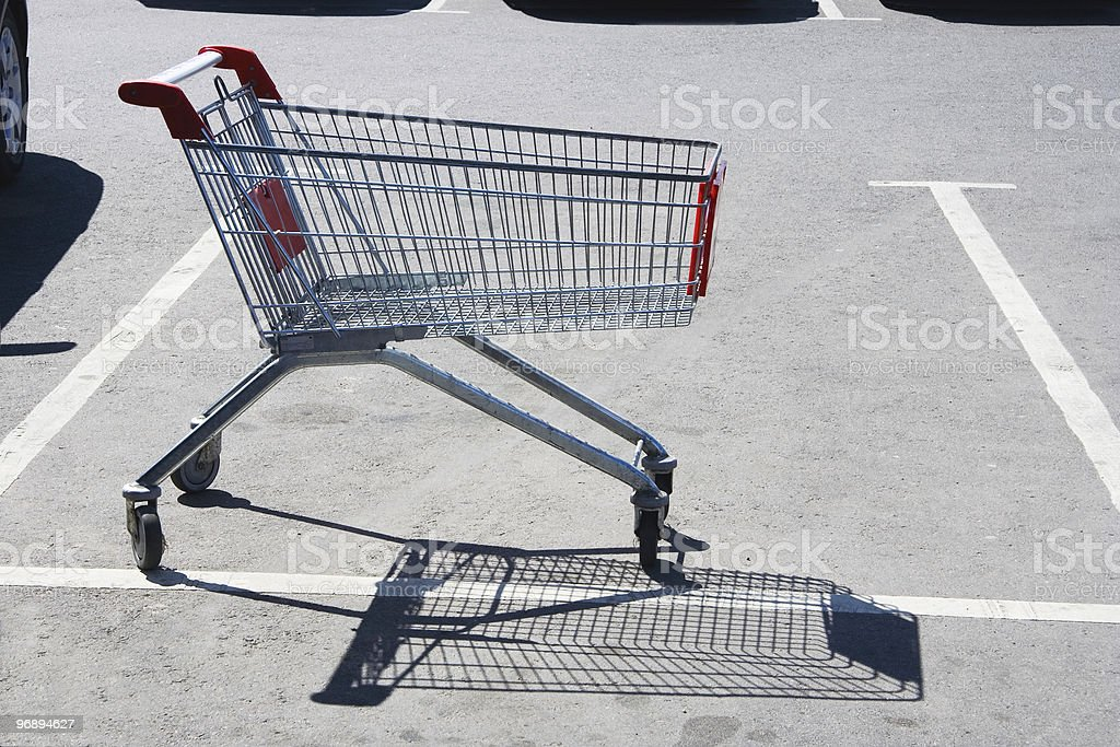 Lonely cart royalty-free stock photo
