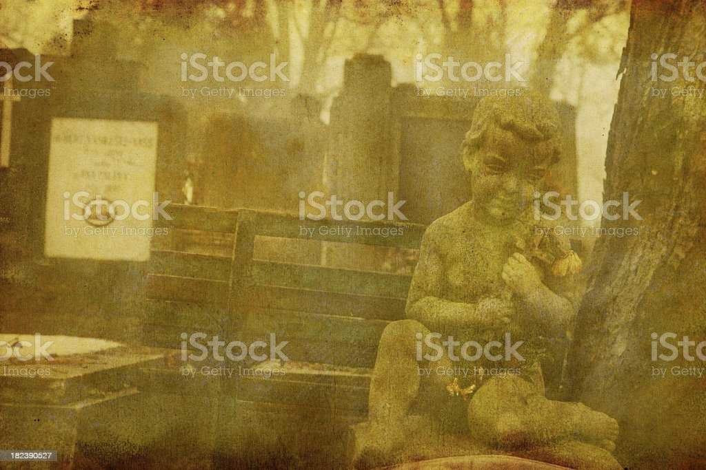 Lonely Children Tombstone stock photo