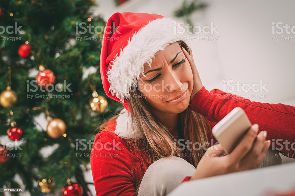 Lonely Christmas stock photo