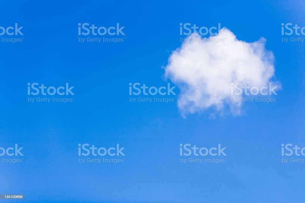Lonely cloud royalty-free stock photo