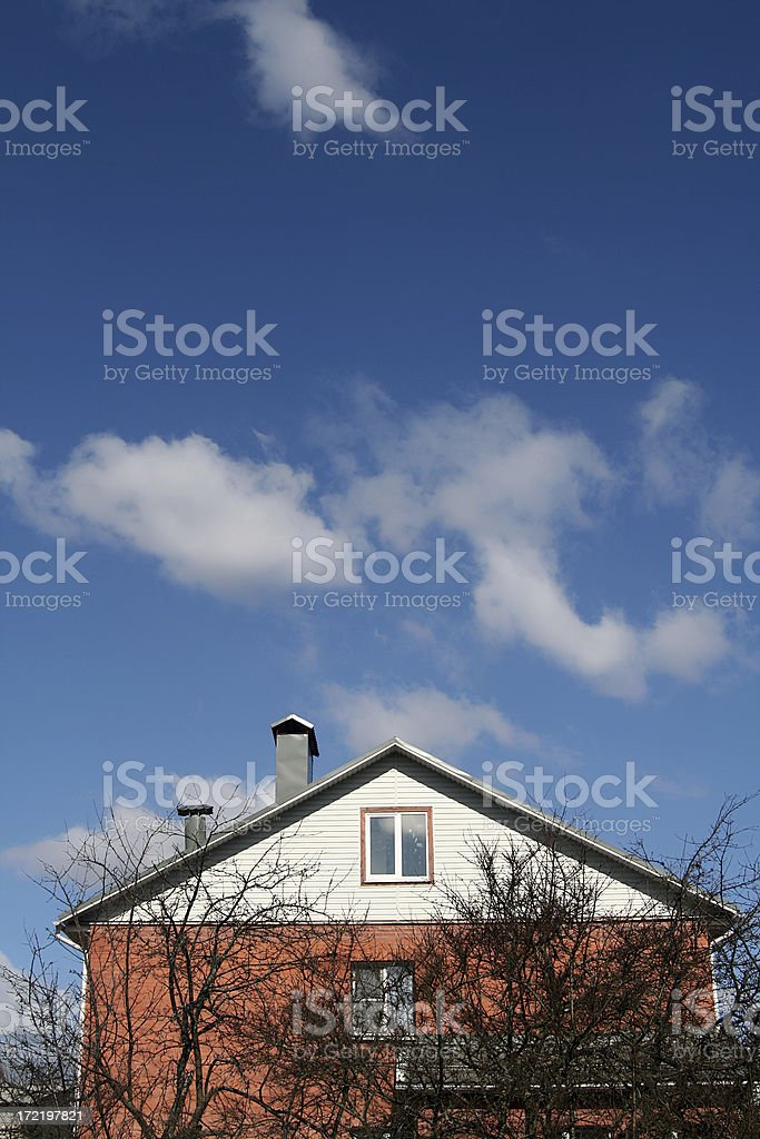 Lonely country house, vert royalty-free stock photo