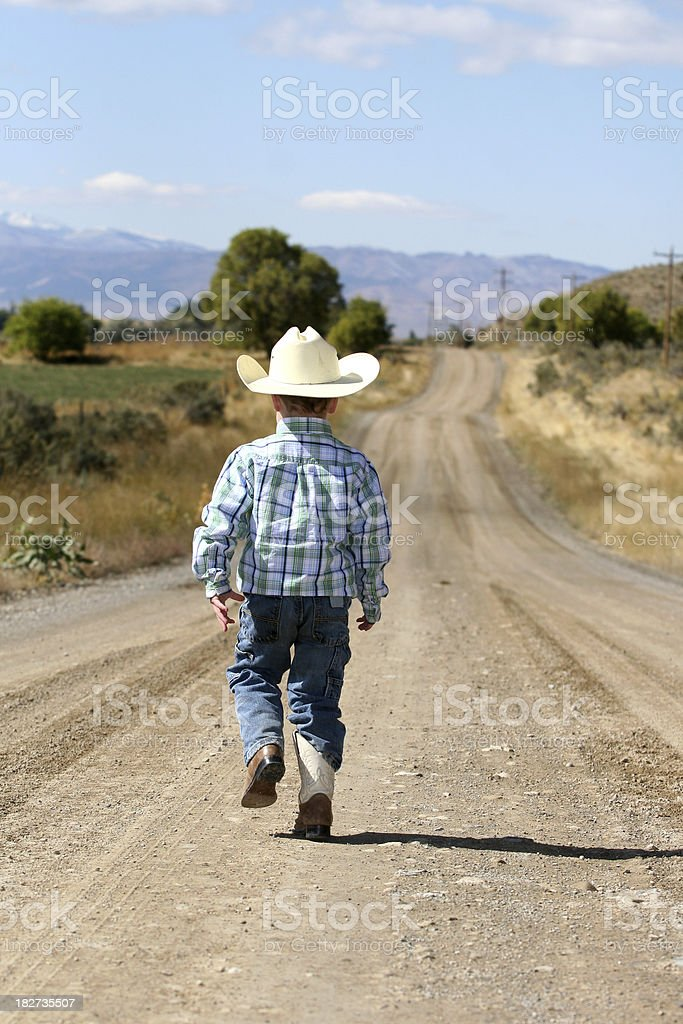 Lonely Cowboy royalty-free stock photo