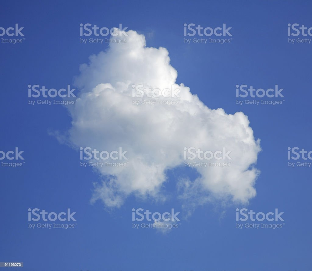 Lonely cumulus cloud royalty-free stock photo