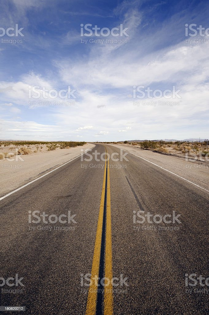 lonely desert highway stock photo