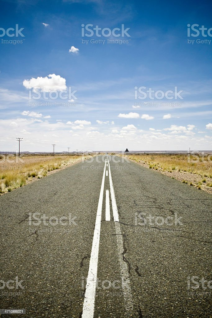 Lonely Desert Highway royalty-free stock photo
