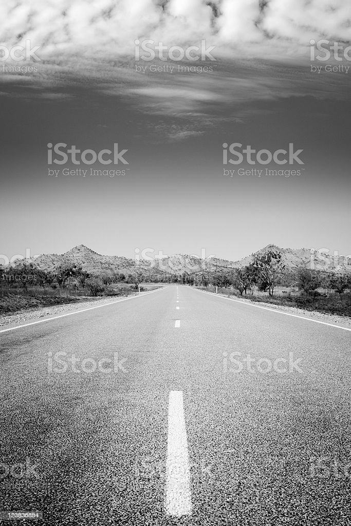 Lonely Deserted Road royalty-free stock photo