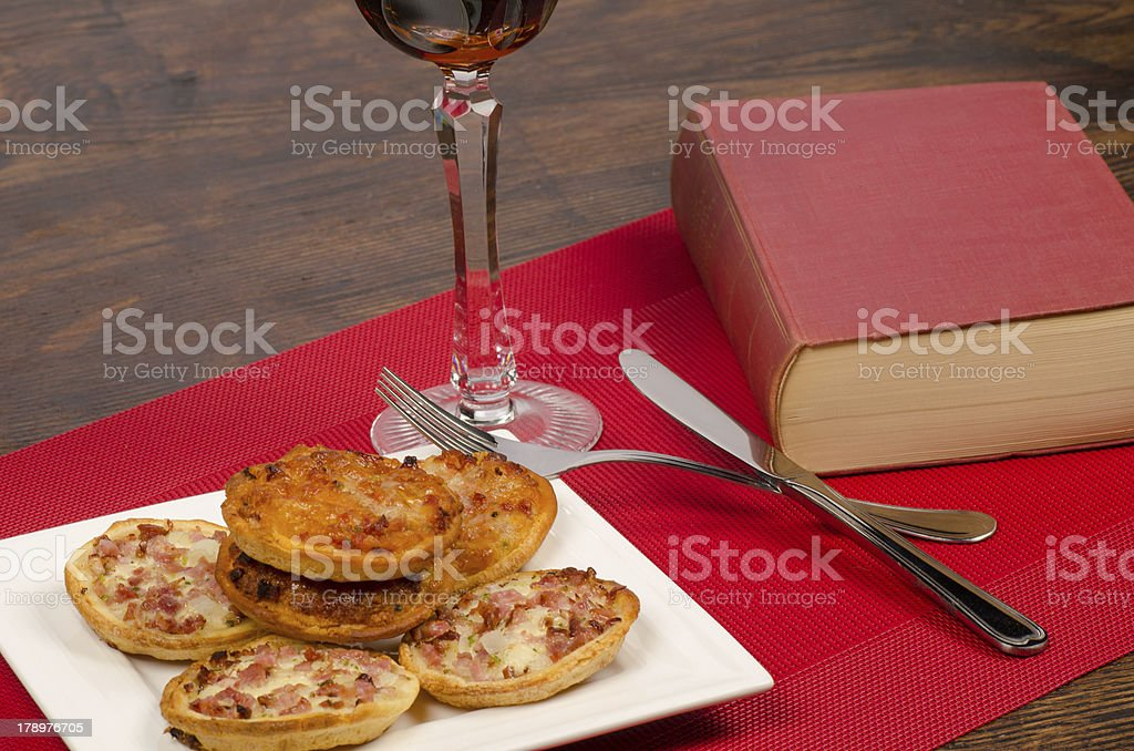 Lonely dinner royalty-free stock photo