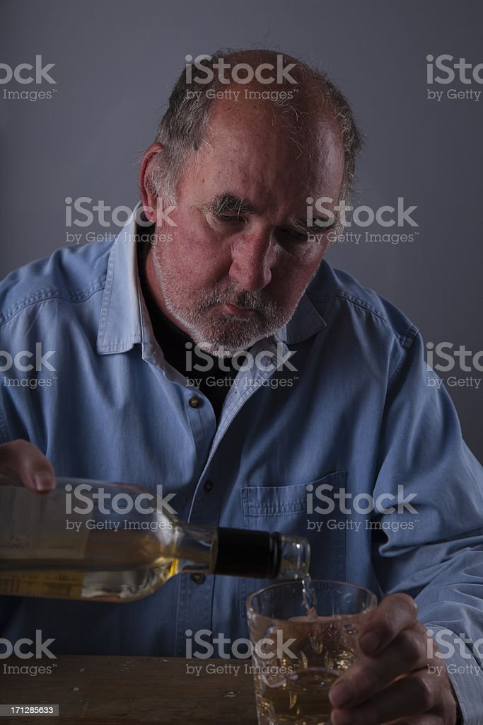 Lonely Drinker royalty-free stock photo