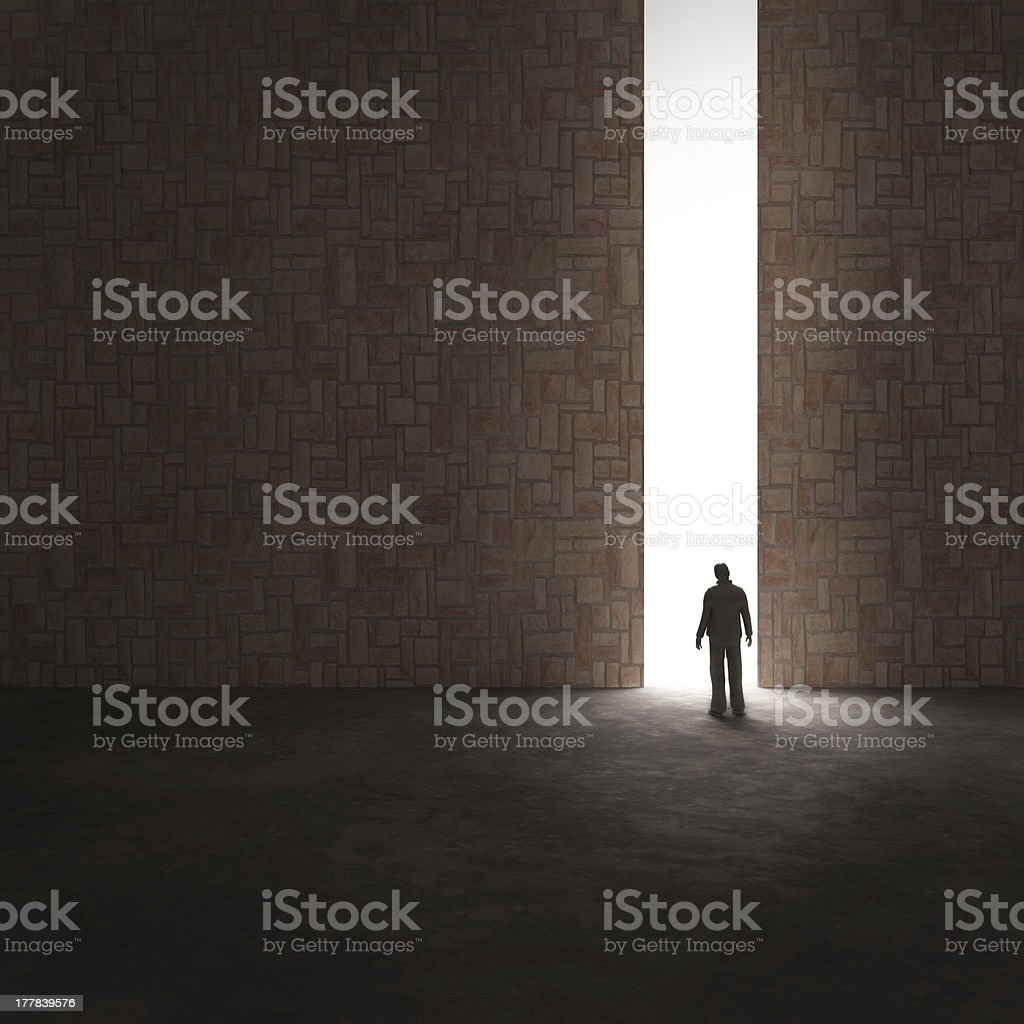 Lonely explorer stock photo