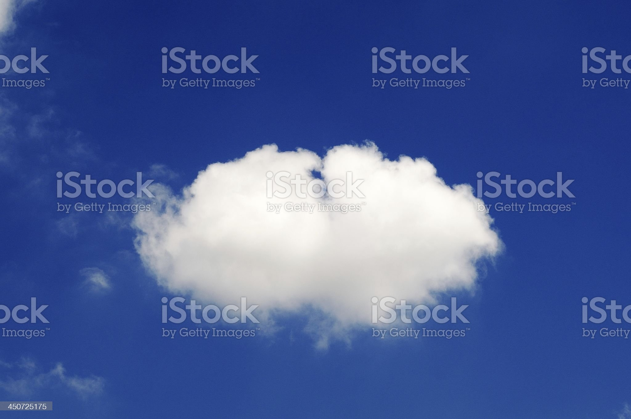 Lonely Fluffy Cloud royalty-free stock photo