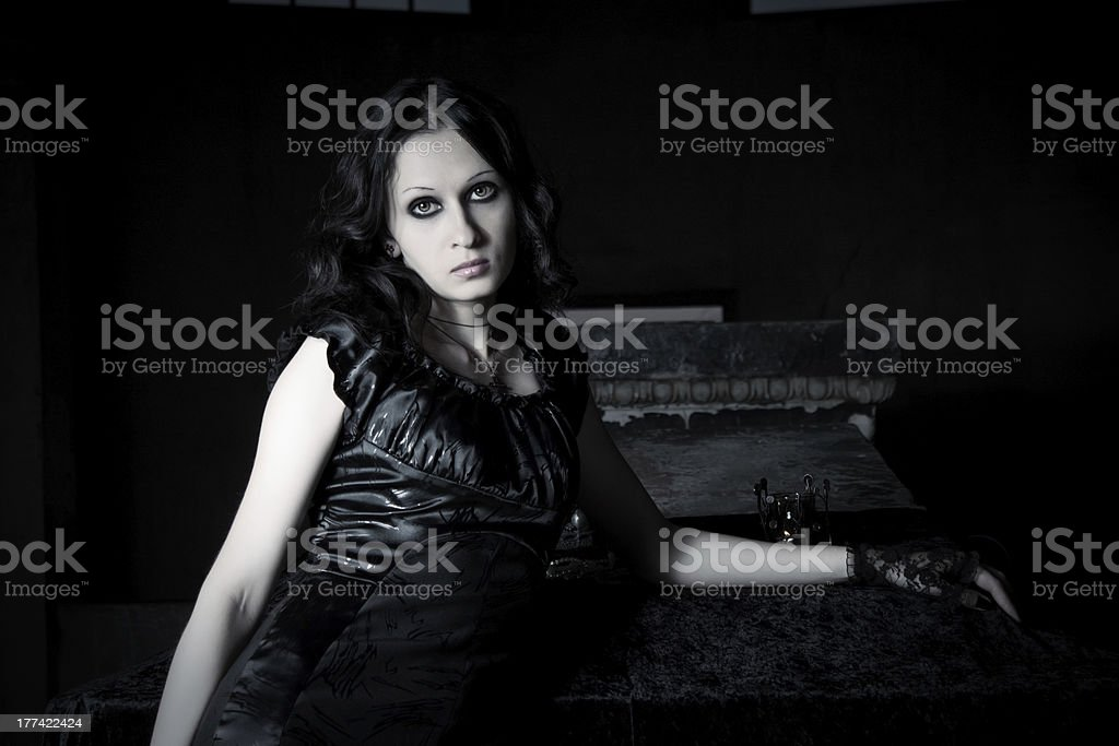 Lonely girl royalty-free stock photo