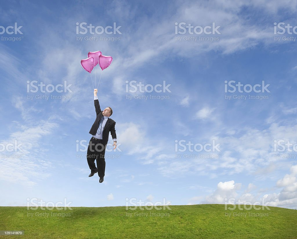 lonely heart finds love stock photo