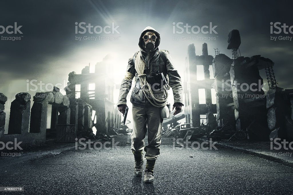 lonely hero royalty-free stock photo