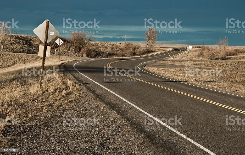 Lonely highway royalty-free stock photo