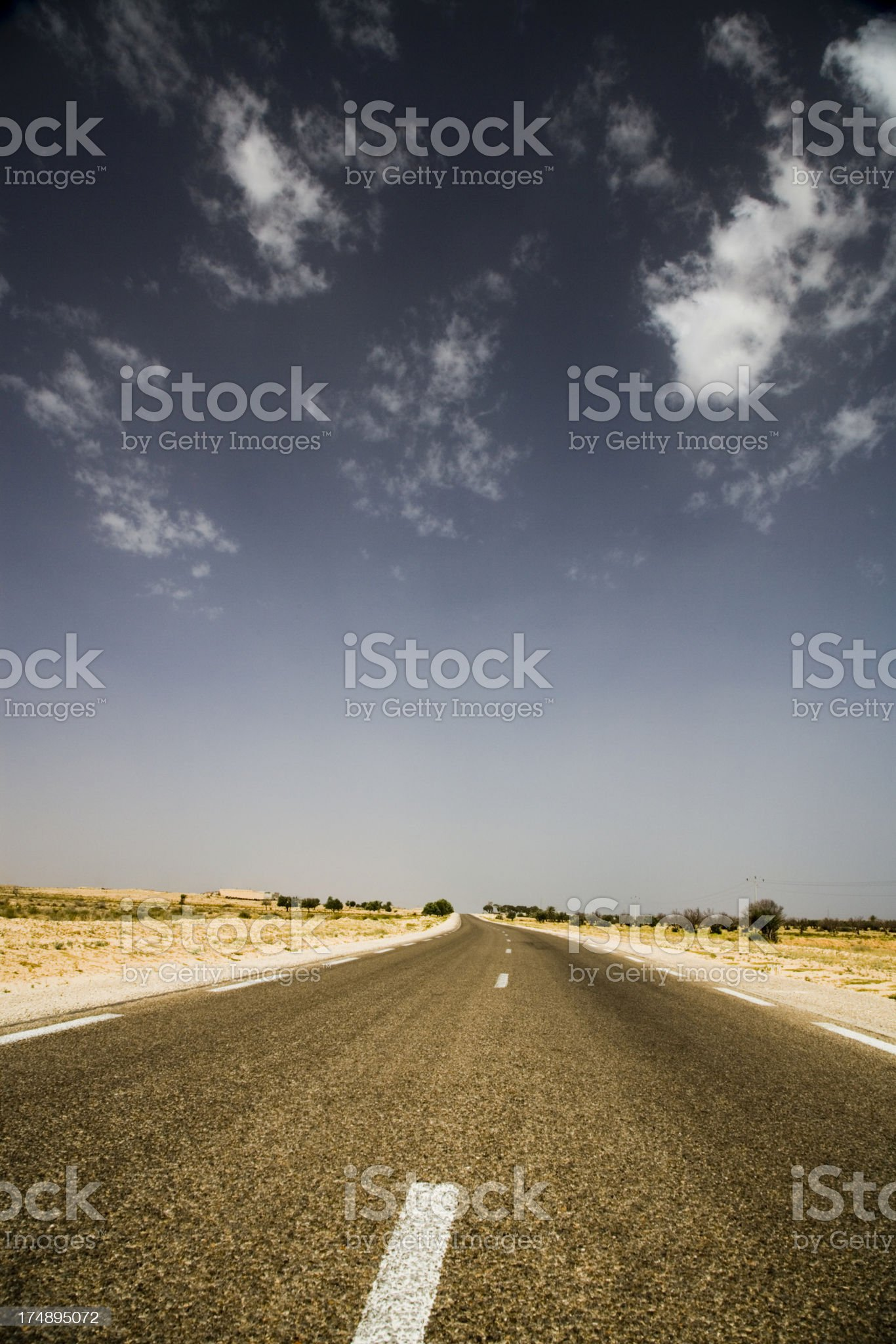 lonely highway road royalty-free stock photo