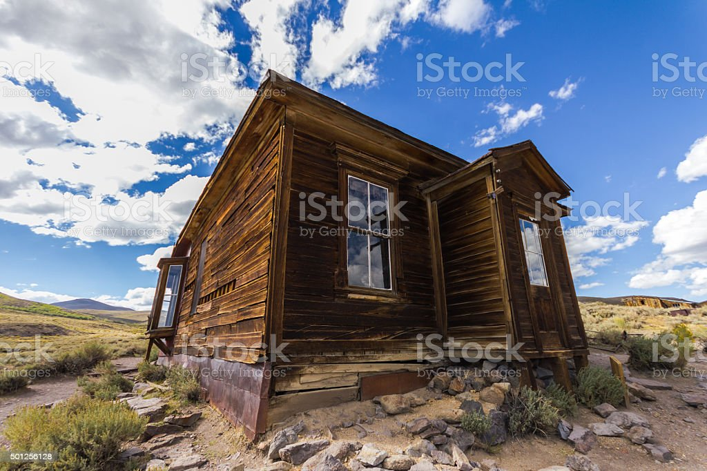 Lonely house in Ghost town Bodie, USA stock photo