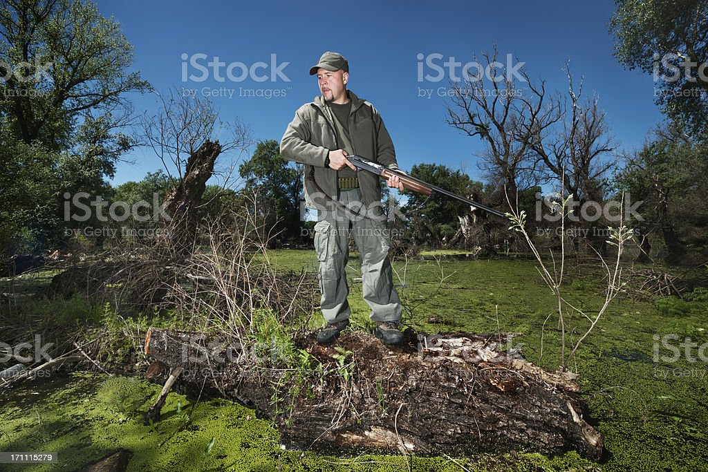 Lonely Hunter stock photo
