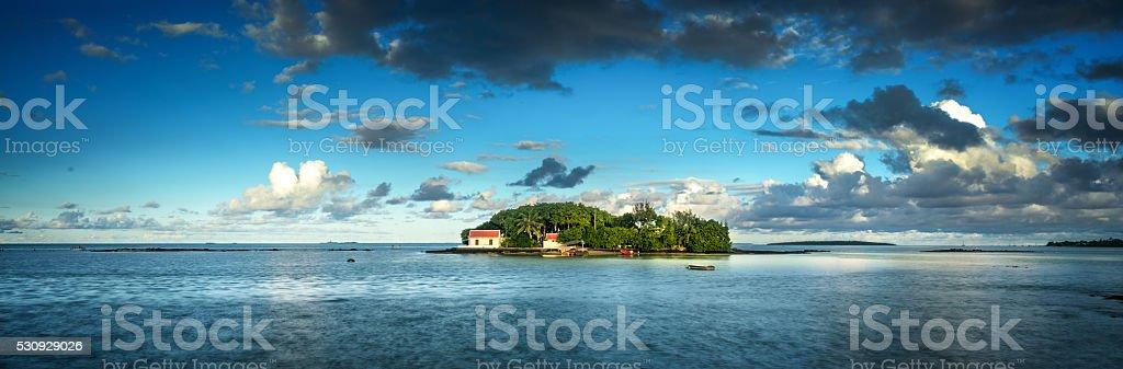 Lonely island Mauritius stock photo