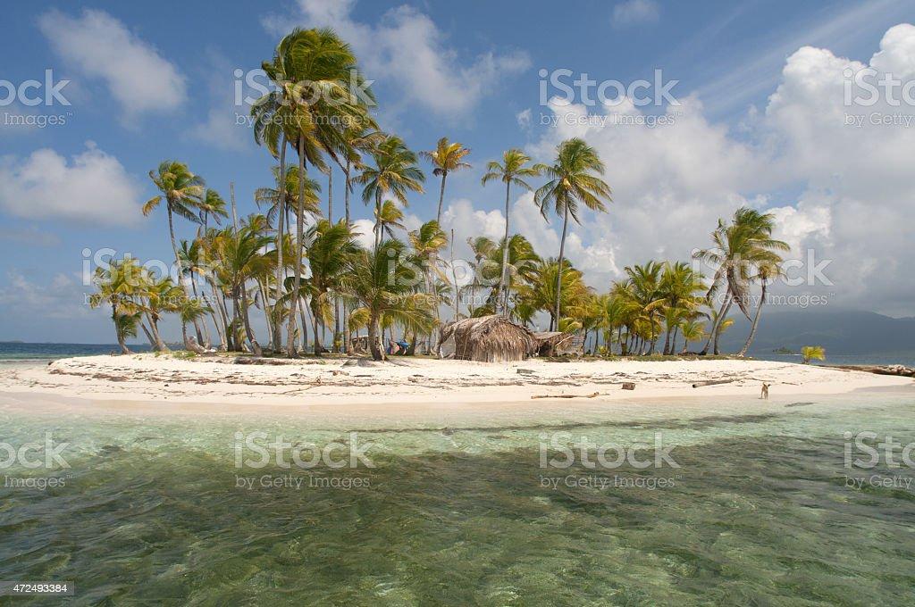 Lonely Island, San Blas-Panama stock photo