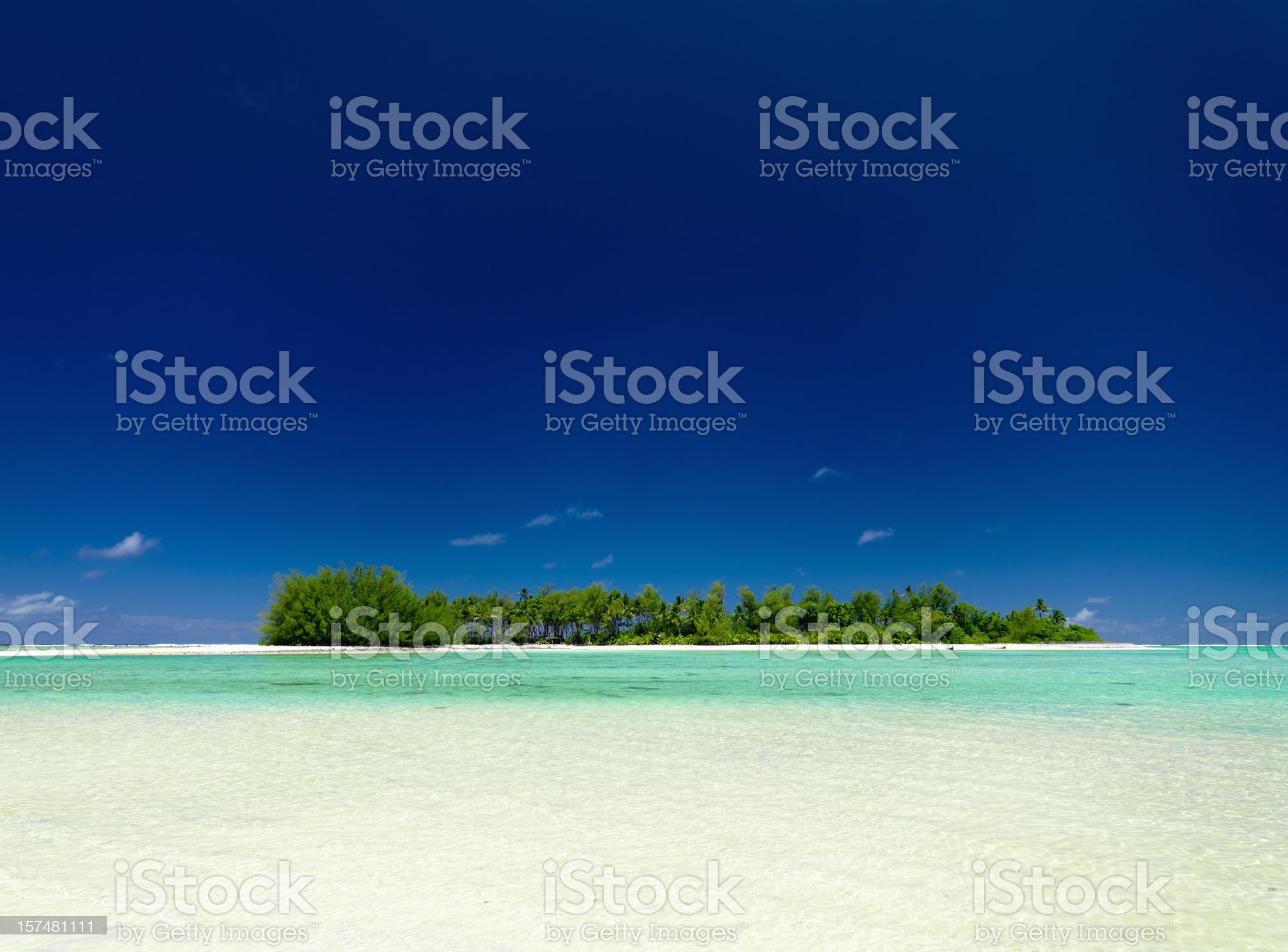 Lonely Island South Pacific royalty-free stock photo