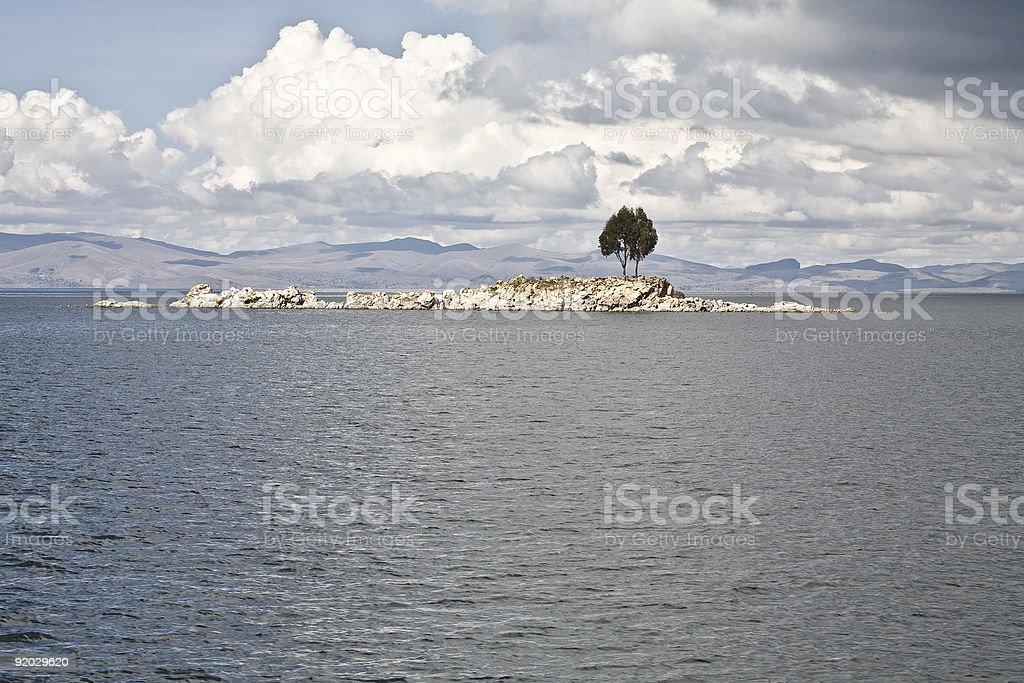 Lonely Island Tree royalty-free stock photo
