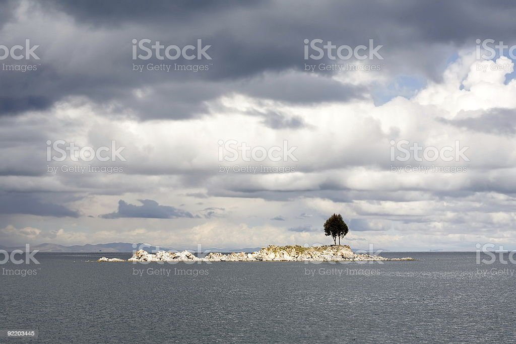Lonely Island Tree royalty-free stock photo