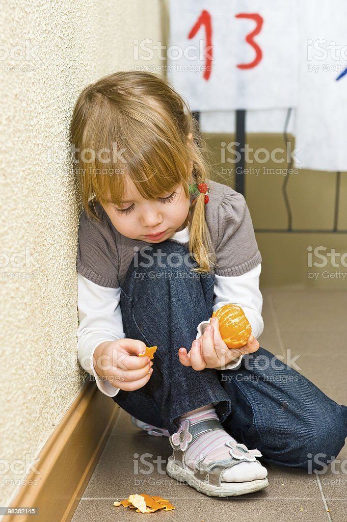 Lonely little girl royalty-free stock photo