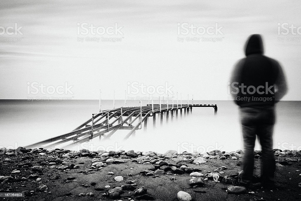 Lonely man. stock photo