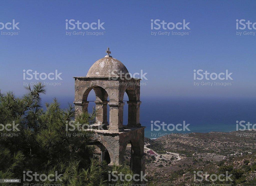 Einsam mediterrane Bell Tower Lizenzfreies stock-foto