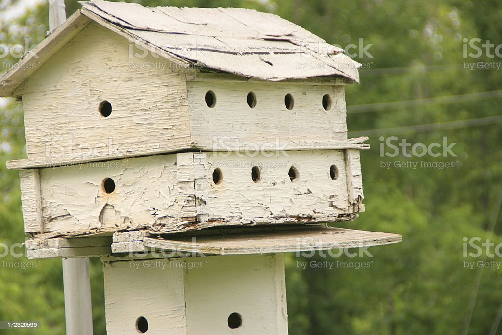 Lonely Old Birdhouse royalty-free stock photo